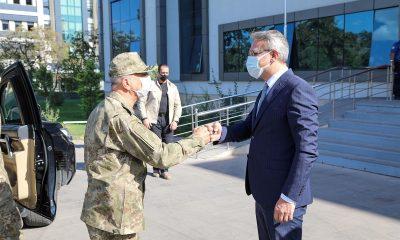 3. Ordu Komutanı Korgeneral Yavuz Türkgenci, Bingöl Valisi Ekinci ile bir araya geldi