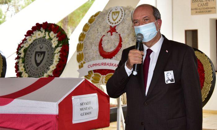 57 yıl sonra naaşı KKTC'ye getirilen şehit Gürsoy, askeri törenle defnedildi