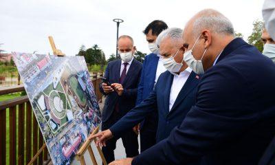 AK Parti Genel Başkan Vekili Yıldırım ve Bakan Kurum Millet Bahçesi'nde incelemelerde bulundu