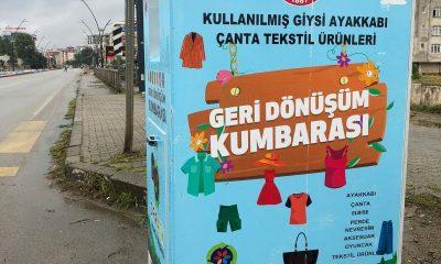 Bulancak'ta eski giysiler geri dönüşümle değerlendirilecek