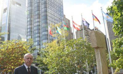"""Cumhurbaşkanı Erdoğan: """"Göbeklitepe'deki dikilitaşların bir sureti New York'taki BM binasının bahçesinde sergilenmeye başladı"""""""