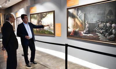 Dündar, Kaymakam Partal'ı Fetih Müzesi'nde ağırladı