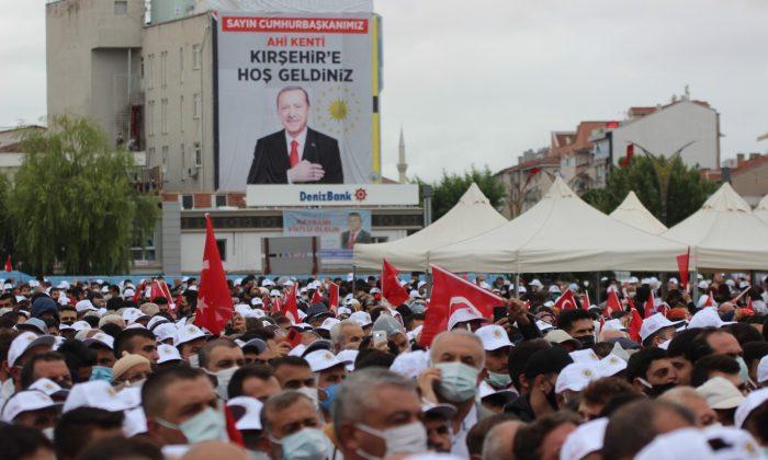 Kırşehir'de Erdoğan heyecanı