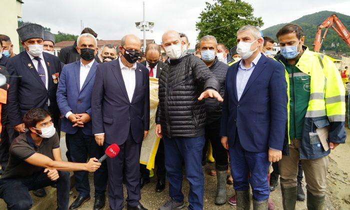 KKTC Cumhurbaşkanı Tatar'dan afet bölgesine 'geçmiş olsun' ziyareti