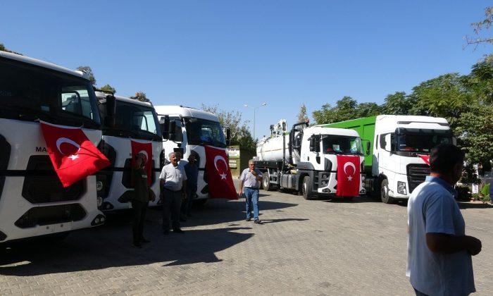 Mardin Büyükşehir Belediyesine hibe edilen araçlar törenle teslim alındı