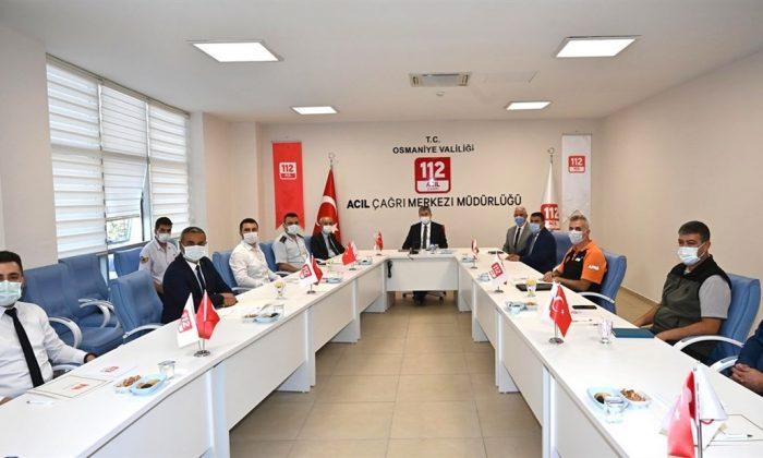 Osmaniye'de Acil Çağrı Merkezi İl Koordinasyon Komisyonu toplandı