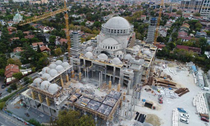 (Özel) Barbaros Hayrettin Paşa Camii'nin kaba inşaatının yüzde 95'i tamamlandı