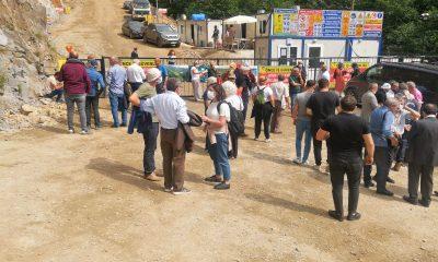 Rize İkizdere'de taş ocağı bölgesinde bilirkişi incelemesi yapıldı