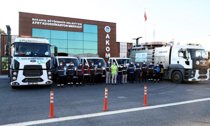 Sakarya'dan afet bölgesine destek ekipler gönderildi