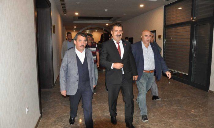 TÜDKİYEB Genel Başkanı Çelik, Karaman'da birlik başkanlarıyla bir araya geldi