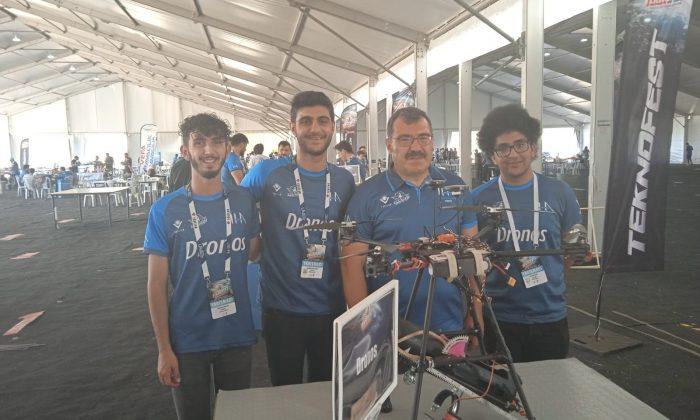 Yangın Söndürme Drone'u ile gümüş madalya kazandılar